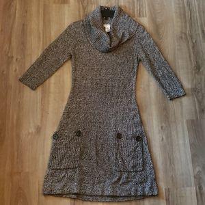 Gray long sleeve turtleneck sweater dress size M